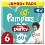 Baby-Dry Pants - Maat 6 (15kg+) - 60 Luierbroekjes - Jumbo+ Pack