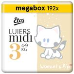 Woezel & Pip - Luiers Maat 3 (4-9 kg) - Maandbox 192 stuks (3 x 64 stuks)