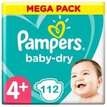 Baby-Dry Luiers - Maat 4+ - 112 stuks