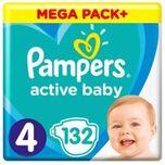 Active Baby Maat 4 - 132 Luiers Voordeelverpakking