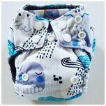 AN9 AIO Newborn wasbare Pocket luier zee