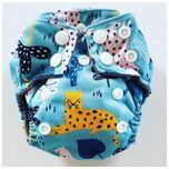 AN15 AIO Newborn wasbare Pocket luier luipaard