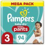 Baby-Dry Pants Luierbroekjes - Maat 3 (6kg-11kg) - 94 Stuks - Maandbox
