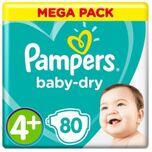 Baby-Dry Luiers - Maat 4+ - 10 tot 15kg - 80 stuks