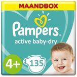 Active Baby Dry Maat 4+ - 135 Luiers Maandbox