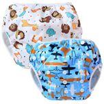 Baby Zwemluier Verstelbaar Wasbaar Herbruikbaar Baby Peuter 0-3 Jaar Vakantie Zwemmen Jonge Meisje Milieu Vriendelijk Kraamcadeau Vliegtuig Dieren