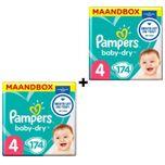 Baby-Dry - Maat 4 (Maxi) 9-14 kg - Maandbox 348 Stuks - Luiers