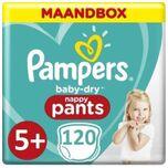 Baby Dry Pants Luierbroekjes - Maat 5+ (12 tot17 kg) - 120 stuks - Maandbox