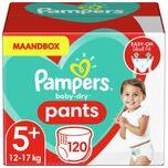 Baby-Dry Pants Luierbroekjes - Maat 5+ (12-17 kg) - 120 stuks - Maandbox