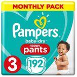 Baby-Dry Pants Luierbroekjes - Maat 3 (6-11 kg) - 192 stuks - Maandbox