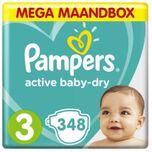 Active Baby Dry - Maat 3 - Mega Maandbox - 348 luiers