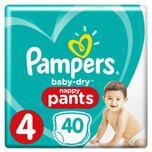 2x Baby Dry Luierbroekjes Maat 4 (9-15 kg) 40 stuks