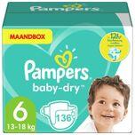 Baby Dry - Maat 6 - Maandbox - 136 luiers