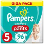 Baby Dry Nappy Pants - Maat 5 (12-17kg) - 96 Luierbroekjes