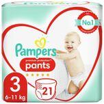Premium Protection Pants Luierbroekjes - Maat 3 (6-11 kg) - 21 stuks