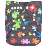 Pocketluier Bamboe - puzzelstukjes