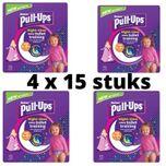 Pull-ups - pampers -4 x 15 broekjes - cinderella -1 tot 2.5 jaar - 8 - 17 kg optrekluiers - toilettraining - luiers