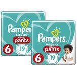 Baby-Dry Pants Luierbroekjes Maat 6 (15+ kg) - 38 stuks (2x19)