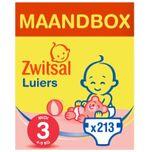 Luiers - Midi Maat 3 - Maandbox 213 stuks - Voordeelverpakking