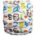 Wasbare luier  / Pocket luier Fleece - met luier inlegger/ - ABC/123