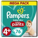 Baby-Dry Pants Luierbroekjes - Maat 4+ (9-15 kg) - 76 stuks
