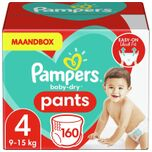 Baby-Dry Pants Luierbroekjes - Maat 4 (9-15 kg) - 160 stuks - Maandbox