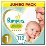 Premium Protection - Maat 1 - Jumbo Pack - 112 luiers