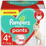 Baby-Dry Pants Luierbroekjes - Maat 4+ (9-15 kg) - 144 stuks - Maandbox