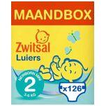 Luiers - Newborn Mini Maat 2 - 126 Stuks - Voordeelverpakking