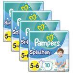 Pampers Splashers Pants Maat 5/6 - 4 x 10 Zwemluiers Voordeelverpakking