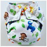 AN10 AIO Newborn wasbare Pocket luier dierentuin