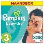 Baby Dry Maat 3 - 200 Luiers Maandbox
