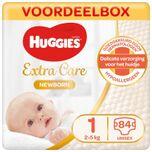 Newborn luiers - Maat 1 - (2 tot 5 kg) - 84 stuks - Voordeelbox