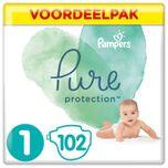 Pure Protection Luiers - Maat 1 (2-5 kg) - 102 Stuks - Maandbox