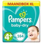 Baby Dry Maat 4+ - 164 Luiers Maandbox XL