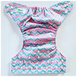 One Size Luierbroekje zigzag groen/roze