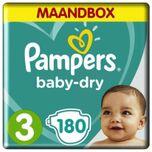 Baby dry maat 3 voordeelbox 180 stuks