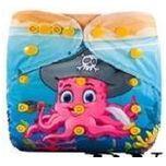 Wasbare luier / Pocket luier - met luier inlegger / Baby Octopus