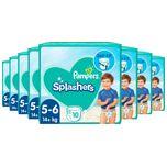 Splashers - Maat 5-6 (14+ kg) - Voordeelverpakking 8 x 10 Wegwerpbare Zwemluiers