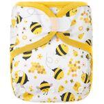 Luierbroekje Bijen | 4-15kg - Wasbaar - Onesize - Wasbare luiers - Overbroekje