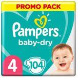 Luiers Baby Dry Maat 4 (9-14 kg) 104 Stuks