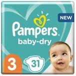 Baby-Dry - Maat 3 (6-10kg) - 31 Luiers