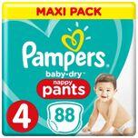 Baby Dry Pants Maat 4 - 88 Luierbroekjes Voordeelverpakking
