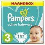 Active Baby Dry Luiers - Maat 3 - 162 stuks