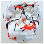 AN11 AIO Newborn wasbare Pocket luier vos wit