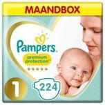 Premium Protection - Maat 1 - Maandbox - 224 luiers