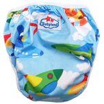 Wasbare zwemluier baby (vliegtuigen) (overbroekjes) verstelbaar voor verschillende maten - Wiesje Wasbaar