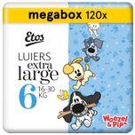 Woezel & Pip Luiers XL Maat 6 - 16-30 kg - Maandbox 120 stuks (3 x 40 st)