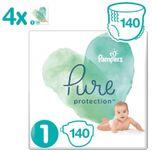 Pure Protection Luiers - Maat 1 (2-5 kg) - 140 stuks - Maandbox