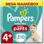 Baby Dry Pants - Maat 4+ - Mega Maandbox - 210 luierbroekjes
